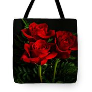 Red Roses Tote Bag by Sandy Keeton
