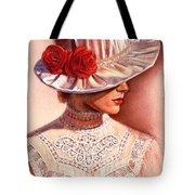 Red Roses Satin Hat Tote Bag