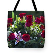 Red Roses Say I Love You Tote Bag