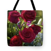 Red Roses The Language Of Love Tote Bag