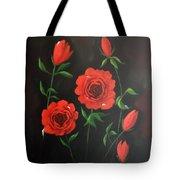 Red Roses Weeping Tote Bag
