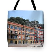 Red Row Houses In Nice Tote Bag