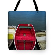Red Rowboat Tote Bag