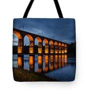 Red Royal Border Bridge Tote Bag