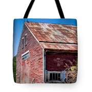 Red Rustic Weathered Barn Tote Bag