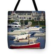 Red Sailboat Tote Bag