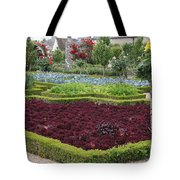 Red Salad And Roses - Chateau Villandry Garden Tote Bag