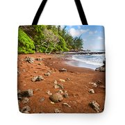 Red Sand Seclusion - The Exotic And Stunning Red Sand Beach On Maui Tote Bag