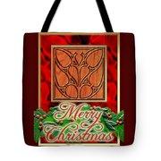 Red Satin Christmas Tote Bag
