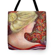 Red Scented Roses Tote Bag