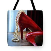 Red Shoes And Pearls Tote Bag