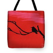 Red - Silhouette - Sunset Tote Bag