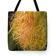 Red Silk And Droplets Tote Bag