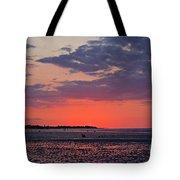 Red Sky At Sword Beach Tote Bag