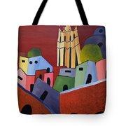 Red Sky In San Miguelle De Allende Tote Bag