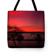 Red Sky In The Morning Two Tote Bag