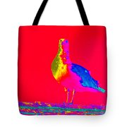 Red Sky Seagull Tote Bag