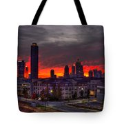 Red Sky Sunrise Midtown Atlanta Tote Bag