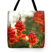 Red Snapdragons Tote Bag