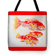 Red Snapper Family Painted Tote Bag