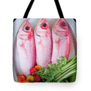 Red Snappers Tote Bag