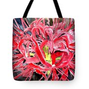 Red Spider Lily Flower Painting Tote Bag