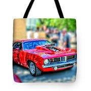 Red Sport Car Tote Bag