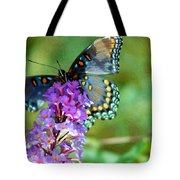 Red Spotted Purple Butterfly Photopainting Tote Bag