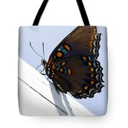 Red Spotted Purple Tote Bag