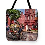 Red Square Malacca Tote Bag