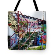 Red Stair Rails Tote Bag