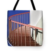 Red Steps On Tank 3 Tote Bag
