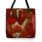 Red Still Life Tote Bag