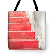Red Stone Steps Tote Bag