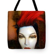 Red Streak Tote Bag