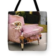 Red Striped Chair Tote Bag