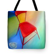 Red Studio Chair Tote Bag