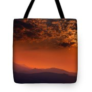 Red Sumer Sunset Tote Bag