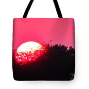 Red Summer Sunset Tote Bag