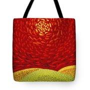 Red Sun Tote Bag by Sergey Khreschatov