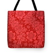 Red Sunflower Wallpaper Design, 1879 Tote Bag