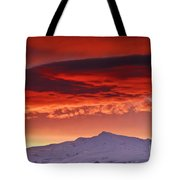 Red Sunrise Over National Park Sierra Nevada Tote Bag