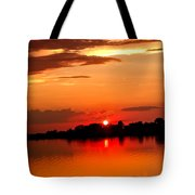 Red Sunset Beauty Tote Bag