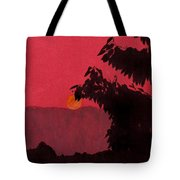 Red - Sunset Tote Bag