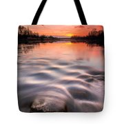 Red Sunset Tote Bag by Davorin Mance