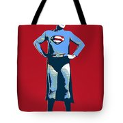 Red Superman Tote Bag