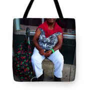 Red Sweater Tote Bag