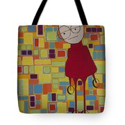 Red Sweater Day Tote Bag