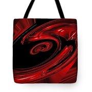 Red Swirl  Tote Bag