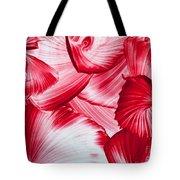 Red Swirls Background Tote Bag